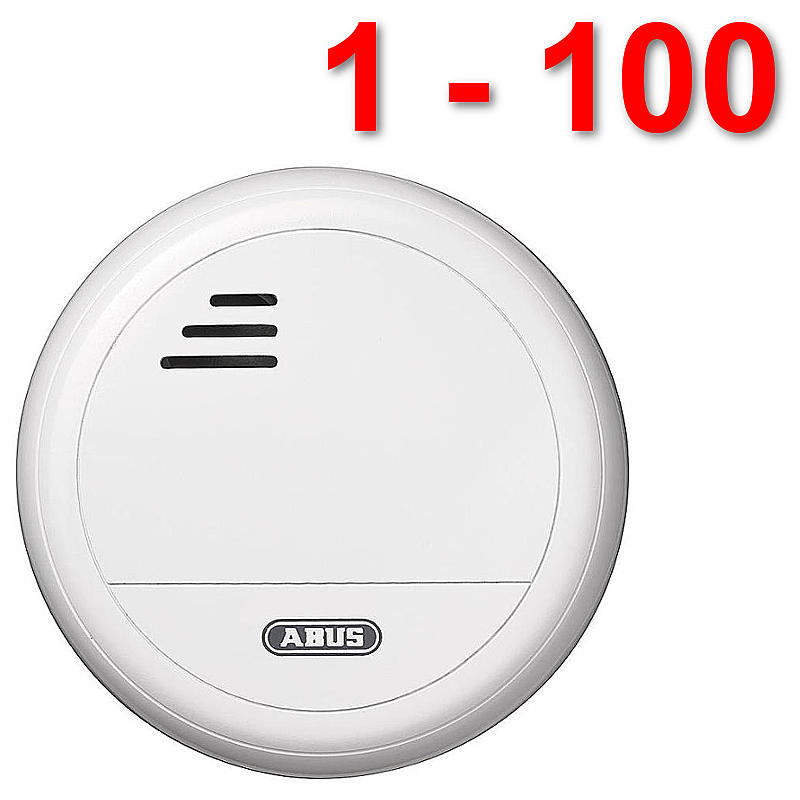 1 100 st ck abus rauchmelder rm10 alkaline neu ovp staffelpreise. Black Bedroom Furniture Sets. Home Design Ideas