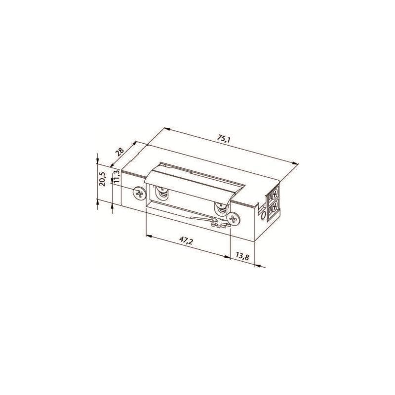 abus et80 elektrischer t r ffner. Black Bedroom Furniture Sets. Home Design Ideas