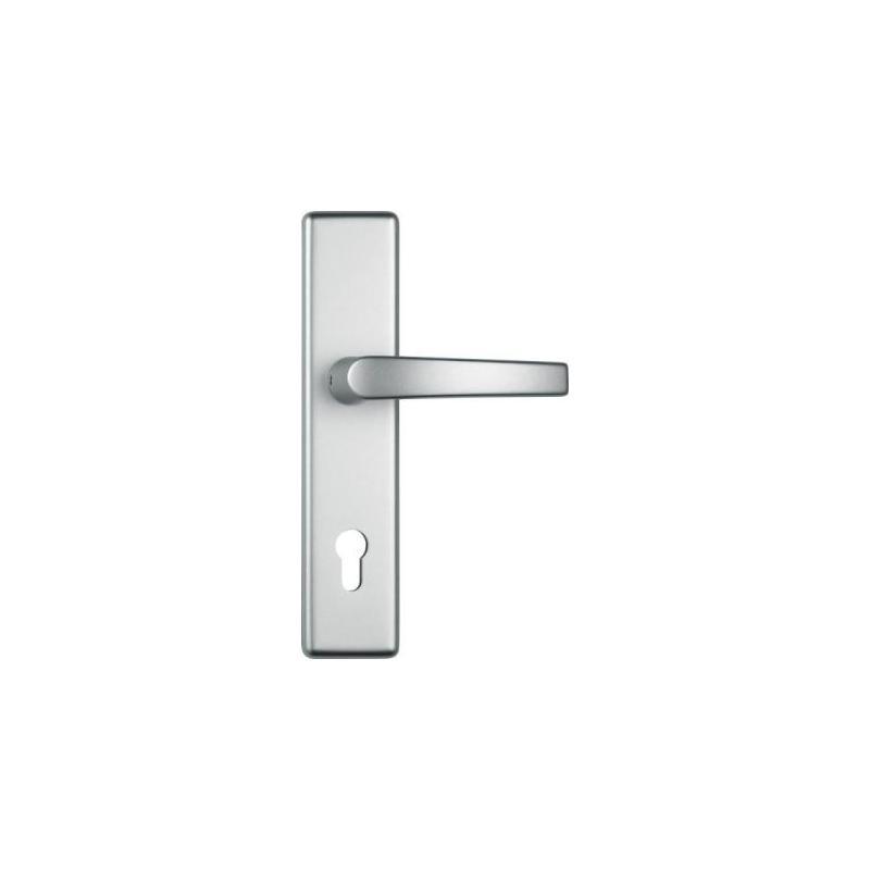 ABUS KG ABUS starker Türbeschlag HLT612 (Garnitur: Türgriff-Garnitur / Farbe: F1-aluminium)