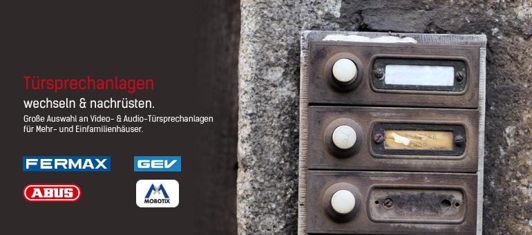 Türsprechanlagen von FERMAX und GEV