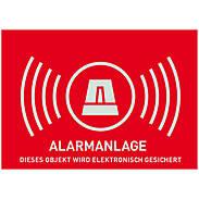 Warnaufkleber Alarm -D- 148x105mm - AU1322
