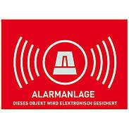 Alarm Warnaufkleber -D- 74x52,5mm AU1323