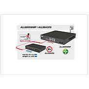 ALLNET managed 8 Port HPoE Switch +2 Combo Ports