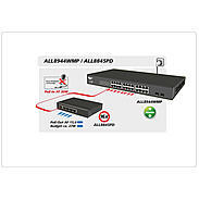 ALLNET 24 Port Gigabit HPoE Switch nach 802.3at/af