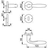Verona E1800Z/42KV/42KVS Türgriffgarnitur BB