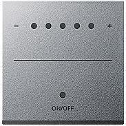 Gira Aufsatz Touch-Dimmer alu System 2000