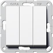 Gira Taster 3fach 1polig Schließer rws System 55