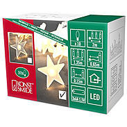 Konstsmide LED Dekolichterkette 10 gefr. Sterne