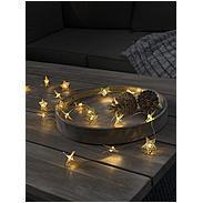 Konstsmide LED Dekolichterkette Sterne 20 LEDs kws