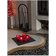 Konstsmide LED-Wachskerzen-Set rot 4er 4 LEDs wws