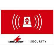 MONACOR ALARM-LABL/OS Aufkleber Alarm 120x80mm