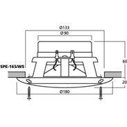 Monacor SPE-165/WS Marine-Lautsprecher