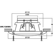 Monacor SPE-130/WS Marine-Lautsprecher