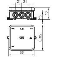 OBO Bettermann Kabelkasten 5P A 11 5 - grau