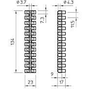 OBO Bettermann Reihenlüsterklemme 10qmm 76 CE WS