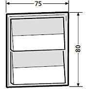 Renz Klingelmodul 2 Klingeltaster 97-9-85270 grau