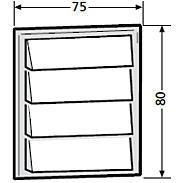 Renz Klingelmodul 4 Klingeltaster 97-9-85272 weiß