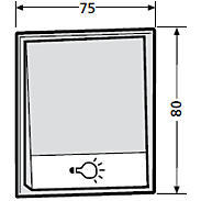 Renz Tastenmodul 1 Lichttaster - 97-9-85273 - weiß
