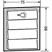 Renz Tastenmodul 1 Licht + 3 Klingel 97-9-85276
