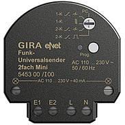 Gira eNet Funk Universalsender 2fach Mini