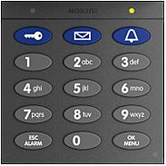 Mobotix Keypad mit RFID-Technik, dunkelgrau