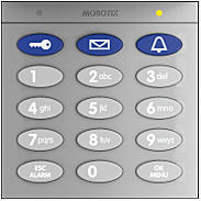 Mobotix Keypad mit RFID-Technik, silber
