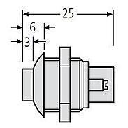 Renz Lichtknopf Lira schwarz-rot, 97-9-85062