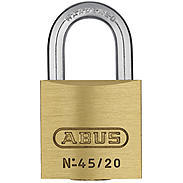 ABUS Messing-Vorhangschloss 45/20 Triples 3er Set