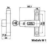 Burg Wächter WinSafe W1 W Z1 GL Fenstersicherung