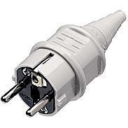 Mennekes Schuko-Stecker 16A,2p+E, 230V, IP44, grau