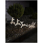 Konstsmide LED Acryl-Set Schlitten+3 Rentiere