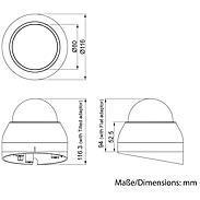 Eneo PXD-1080MIR D Dome IP-Kamera D/N 1080p IR PoE