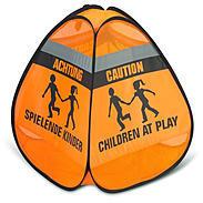 "reer 3D-Straßenwarnschild ""Spielende Kinder"""