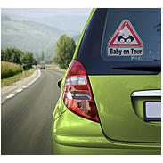 "reer Autoschild ""Baby on Tour"""