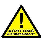 Pentatech WAK-A Aufkleber Alarmgesichert 3er Pack