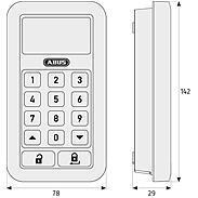 ABUS HomeTec Pro CFT3000W Funk-Tastatur weiß