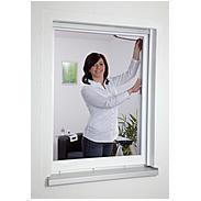 Fliegengitter für Fenster 130 x 150 cm anthrazit