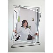 Fensterfliegengitter Master Slim 100x120 cm braun