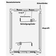 Alu-Fliegengitter Basic 100 x 120 cm anthrazit