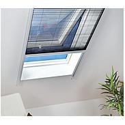 Alu Dachfenster-Plissee 80 x 160 cm braun