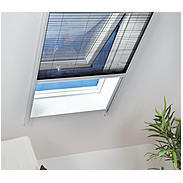 Alu Dachfenster-Plissee 110 x 160 cm weiß