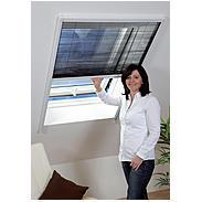 Insektenschutz-Dachfenster-Plissee 110x160cm, weiß