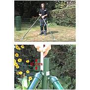 Zauneck-Set, grün, zE, für Zaunhöhe 1020mm