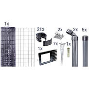 Fix-Clip Pro Set EBH, anthrazit hoch 810mm - 10m