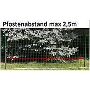 Fix-Clip Pro Zaunpfosten, zE, grün, Ø34mm 2000 mm