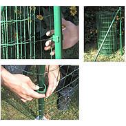 3er Clip f. Fix-Clip Pro Schweißgitter grün Ø60 mm