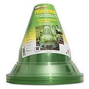 10 Stück Pflanzenhut grün-transparent,  Ø24 cm