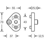 FSB Fenstergriffsicherung 34 3407 Aluminium F1
