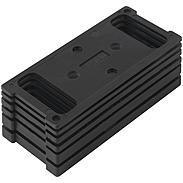 schwarze Falz-Unterlagen für ABUS PR1800