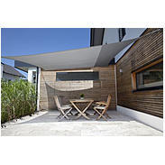 Sonnensegel-Riviera silber 3,6 x 3,6 m quadratisch